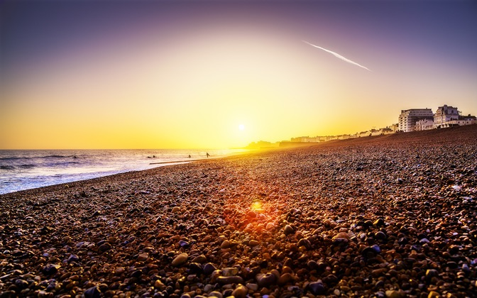 High-resolution desktop wallpaper Brighton Beach Sunset by davestarling