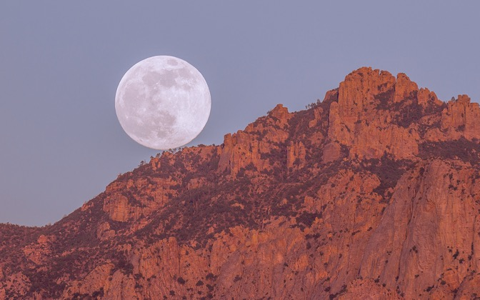 High-resolution desktop wallpaper Tucson Super-Moon by msmcougar