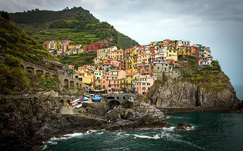 High-resolution desktop wallpaper Cinque Terre by bnaoki