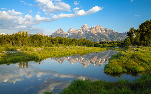 High-resolution desktop wallpaper The Tetons by Robert Bynum