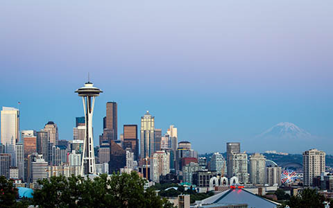 High-resolution desktop wallpaper Mt Rainier from Kerry Park by Jeffery Hayes