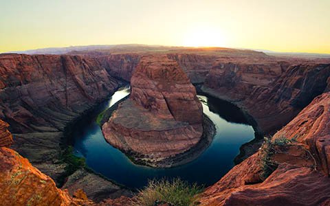 High-resolution desktop wallpaper Horseshoe Bend at Sunset by Owen W.