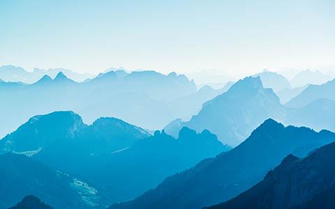 High-resolution desktop wallpaper Blue Mountains by Jan Thoma