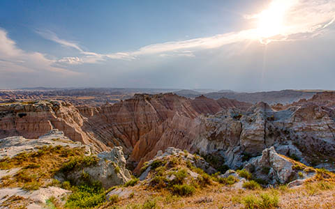 High-resolution desktop wallpaper Badlands in the Afternoon Sun by jbkalla