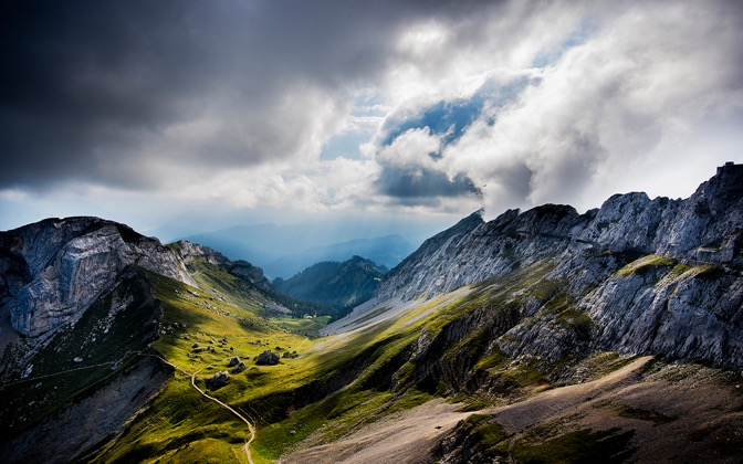 High-resolution desktop wallpaper Switzerland Vastness by Robin Kamp