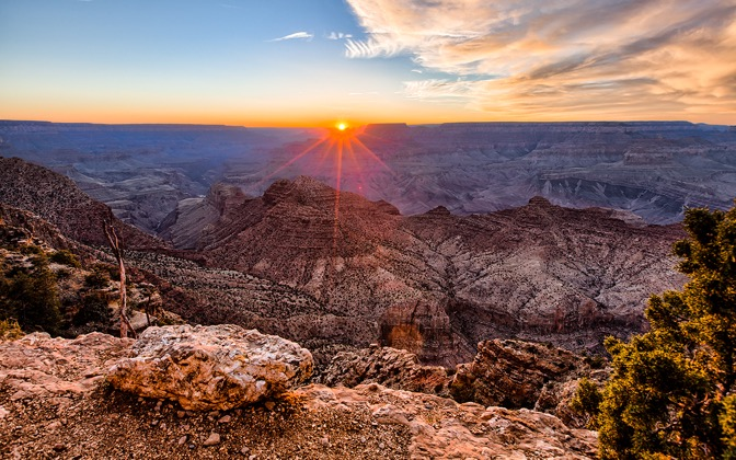 High-resolution desktop wallpaper Grand Canyon Sunset by Andre Richter