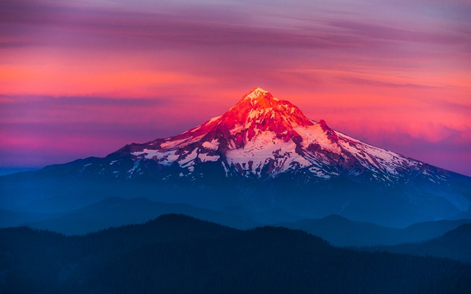 High-resolution desktop wallpaper Mt Hood Painted by atomic80