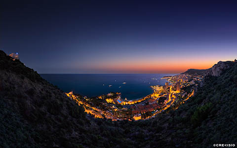 High-resolution desktop wallpaper Vista Palace over Monaco by Crevisio