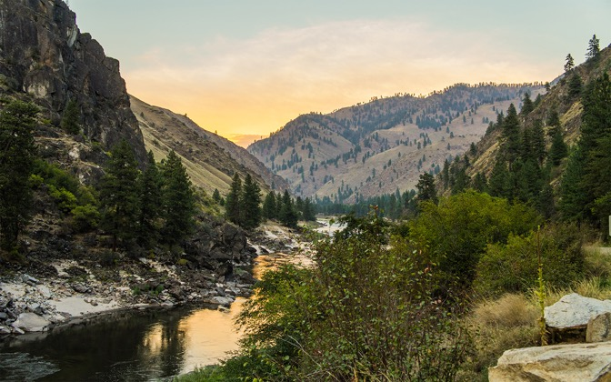 High-resolution desktop wallpaper Salmon River, Idaho by artikfro