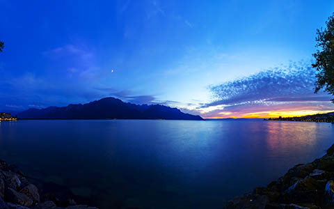 High-resolution desktop wallpaper Lake Geneva by Mohsen Kamalzadeh