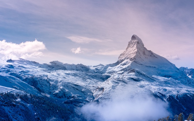 High-resolution desktop wallpaper Freshly Coated Matterhorn by PNWUSA