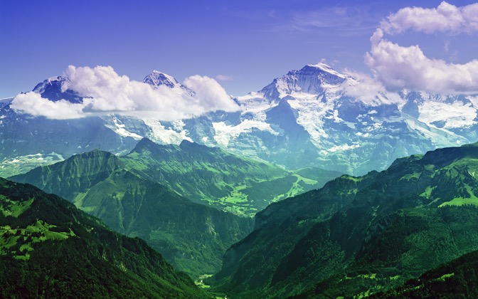 High-resolution desktop wallpaper The Mighty Jungfrau by Mohsen Kamalzadeh