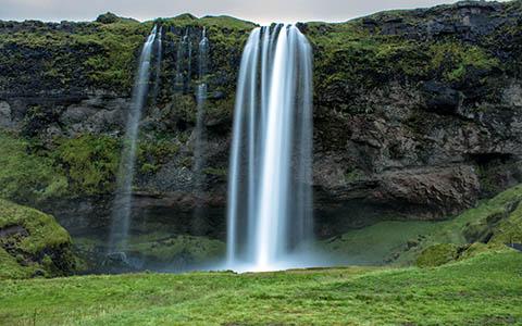 High-resolution desktop wallpaper Seljalandsfoss waterfall by nikonja