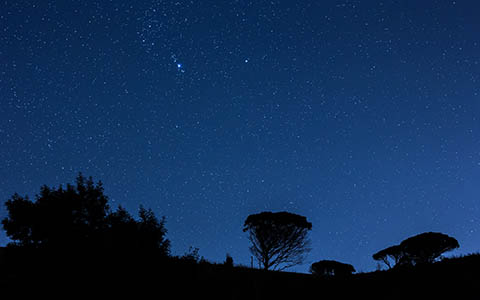 High-resolution desktop wallpaper Night Sky of Sicily by GiuseppeGiacoppo