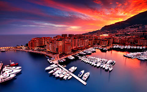 High-resolution desktop wallpaper Fontvieille Monaco by David Capellari