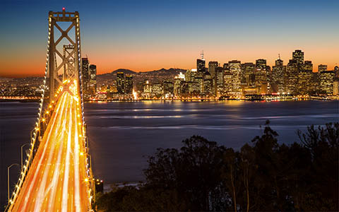 High-resolution desktop wallpaper San Francisco at Night by photodim