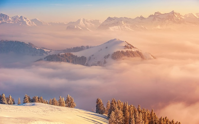 High-resolution desktop wallpaper Sea of Clouds by Dominic Kamp