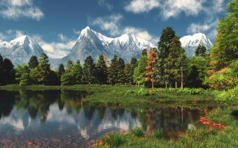 High-resolution desktop wallpaper Mountains Edge by Richard Mohler