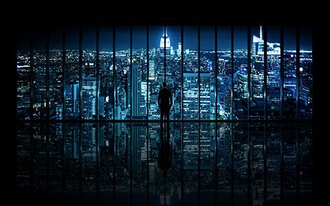 High-resolution desktop wallpaper Window to Gotham City by Dominic Kamp