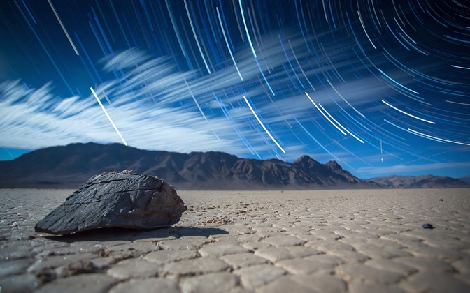High-resolution desktop wallpaper Racetrack - Star Trails - Death Valley by anthonyhayward89