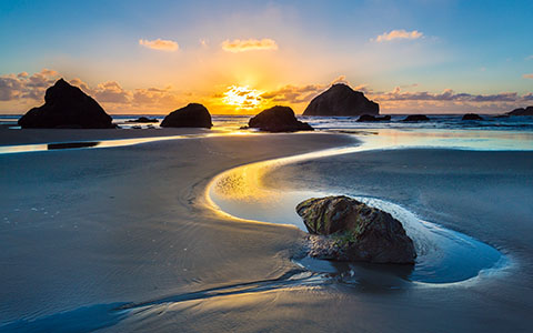 High-resolution desktop wallpaper Bandon Face Rock by Robert Bynum