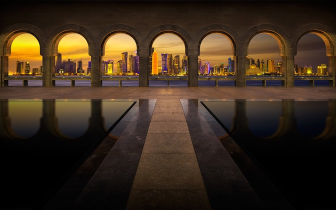 High-resolution desktop wallpaper Archway to Doha by Nicolas Kamp