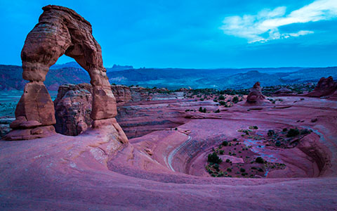 High-resolution desktop wallpaper Delicate Arch After Hours by Robert Bynum