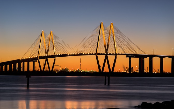 High-resolution desktop wallpaper Fred Hartman Bridge by Kahunaken