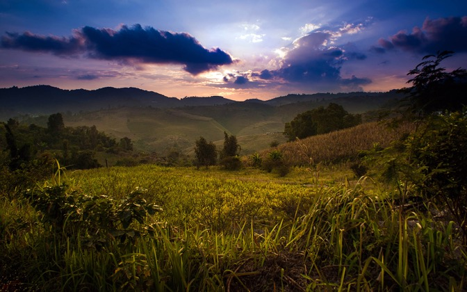 High-resolution desktop wallpaper Rural Thailand 2 by Keman