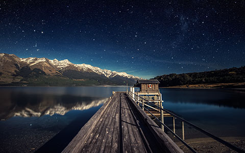 High-resolution desktop wallpaper Moonlit Night by Dominic Kamp