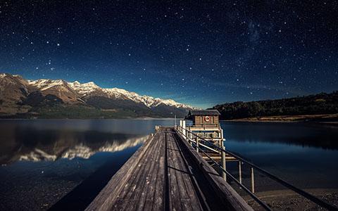 High-resolution desktop wallpaper Moonlit Night by Dominic Kamp