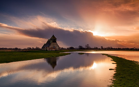 High-resolution desktop wallpaper Fairfield Church by Fuzzypiggy