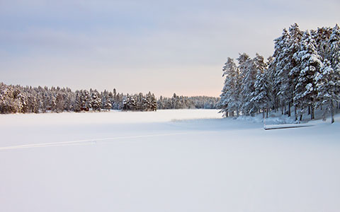 High-resolution desktop wallpaper Landscape in Snow by Datamakarna