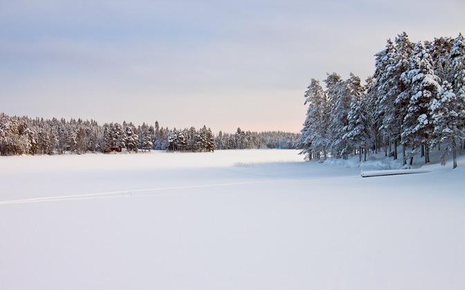 High-resolution desktop wallpaper Landscape in Snow by Datamakarna