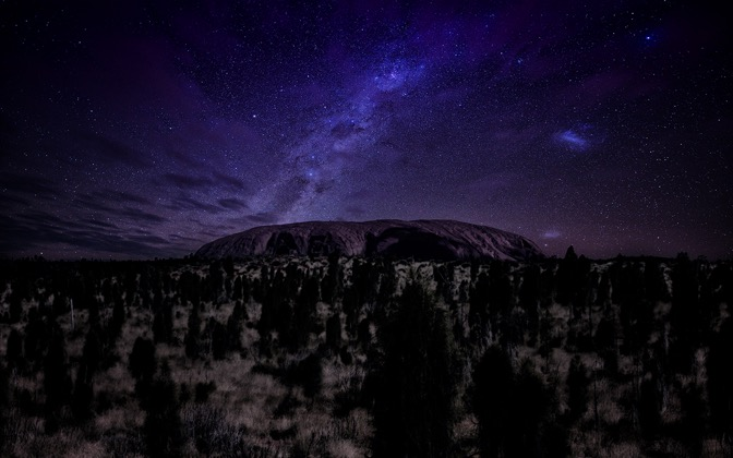 High-resolution desktop wallpaper Ayers Rock under Stars by Dominic Kamp