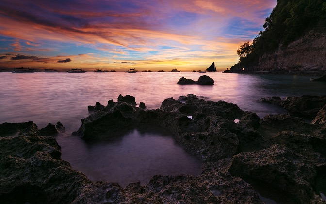 High-resolution desktop wallpaper Boracay Island Sunset by andrewsparrow