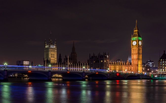 High-resolution desktop wallpaper London by Night by Kosta Stoenchev