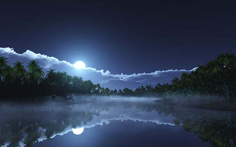 High-resolution desktop wallpaper Tropic Cold Night by Richard Mohler