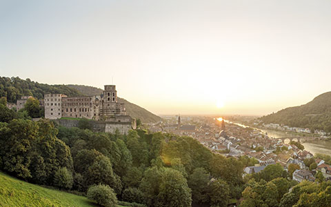 High-resolution desktop wallpaper Heidelberg Sunset by donnosch