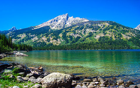 High-resolution desktop wallpaper Lake of Teton by Youen California