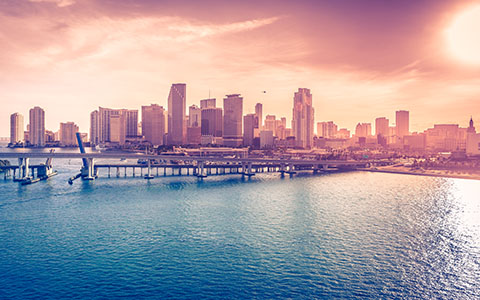 High-resolution desktop wallpaper Miami Downtown, Florida, USA by martinkup.cz