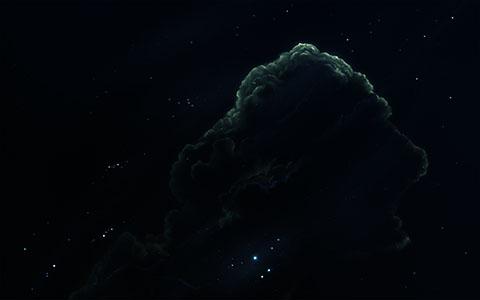 High-resolution desktop wallpaper Green Aquarium Nebula by Starkiteckt