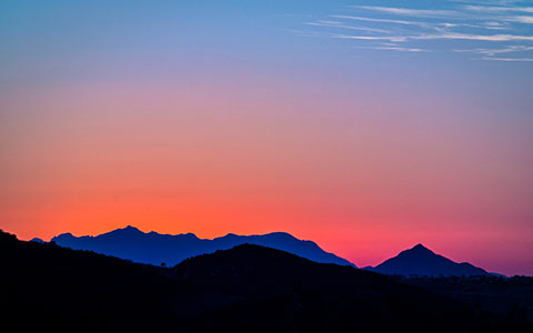 High-resolution desktop wallpaper The Topanga Gradient by Wasim Of Nazareth