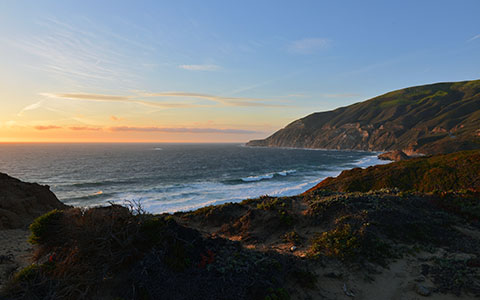 High-resolution desktop wallpaper Sunset at Big Sur by Ben Grogan