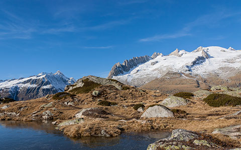 High-resolution desktop wallpaper Fusshorner Bettmeralp, Switzerland by Simu