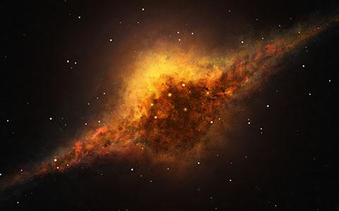 High-resolution desktop wallpaper Slice of Fire by Starkiteckt