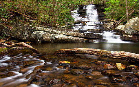 High-resolution desktop wallpaper Emery Creek Falls by pvarney3