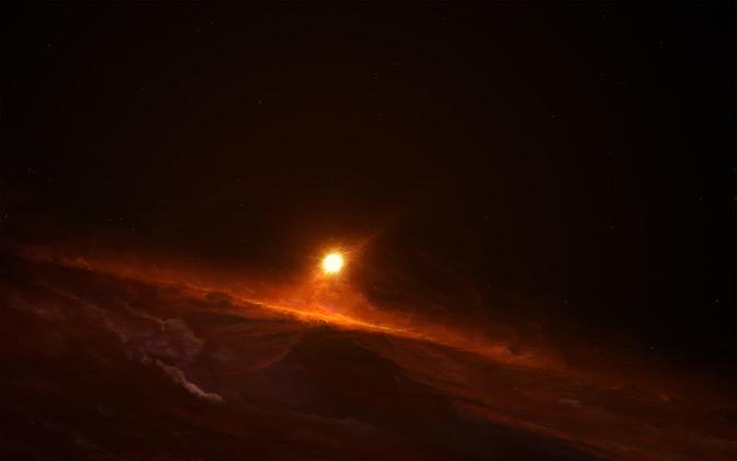 High-resolution desktop wallpaper Mustafarian Sunrise by Starkiteckt