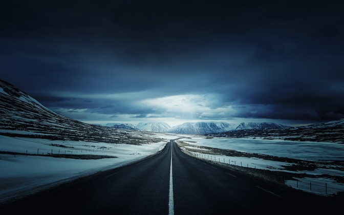 High-resolution desktop wallpaper On Iceland's Ring Road by Dominic Kamp