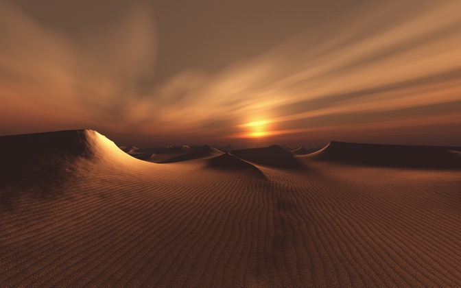 High-resolution desktop wallpaper Desert Dark by Richard Mohler